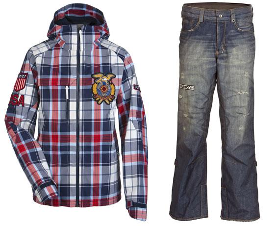 Burton Snowboarding Karo Jacket und Jeans