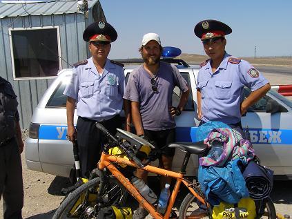Polizeikontrolle Kasachstan