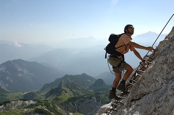Klettersteig im Wetterstein Gerbirge