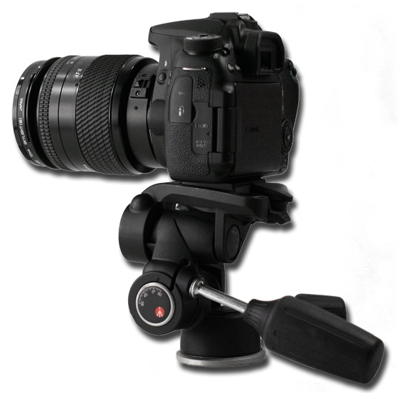 Canon EOS 70D mit Manfrotto Video Stativ