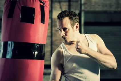 Ausdauer-Trainingseinheiten am Boxsack